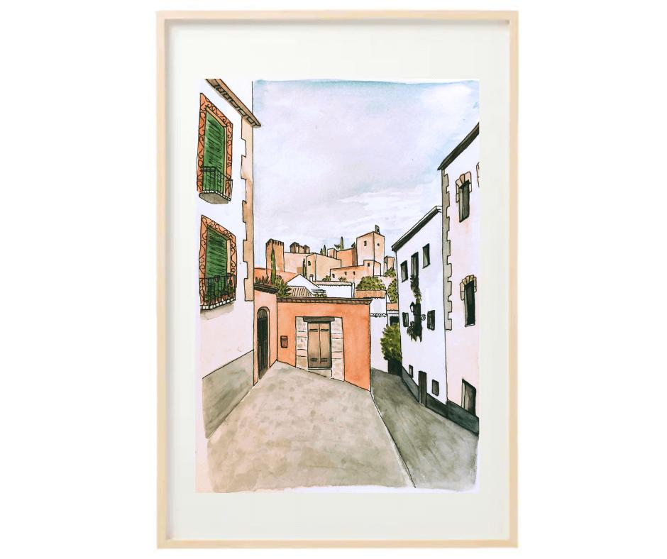 aquarelle-grenade-andalousie