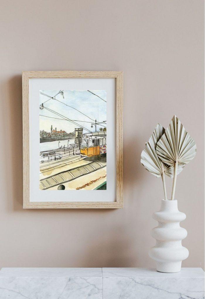 aquarelle-budapest-cadre